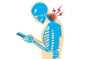 Neck pain de to cell phone use